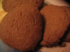 Chocolate Millet Shortbread Cookies.  Swap the agave syrup for allowed sweetener.