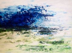 Ocean Abstract  Original Acrylic Painting on 40 x 30 by VickisArt, $375.00