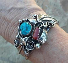 Silver Pearls, Silver Cuff, Sterling Silver, Kingman Turquoise, Turquoise Bracelet, Native American Symbols, Blue Topaz Ring, Strand Necklace, Navajo