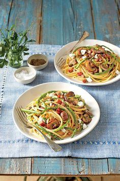 Bucatini Ham and Asparagus - Quick-Fix Pasta Suppers