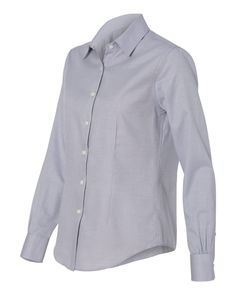 36.25 -  This Van Heusen Ladies Long Sleeve Ringspun Twill shirt will give a professional appearance from conference room to happy hours, , ebuybit.com