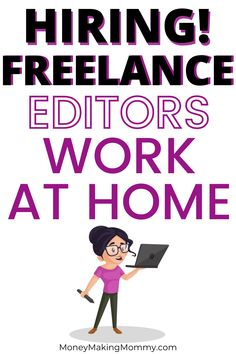 If you'd like to start working from home and have editing and/or proofreading skills - you'll want to check out this company. They have over 1,000 freelancers working for them and you could be one of them! Get details on salary, requirements and how to apply! #editorjobs #workfromhome #freelance Work From Home Companies, Work From Home Jobs, Make Money From Home, How To Make Money, Successful Business Tips, Job Work, Financial Literacy, Investing Money, Digital Marketing Strategy
