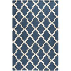Safavieh Handmade Moroccan Cambridge Blue Wool Rug | Overstock.com Shopping - Great Deals on Safavieh 7x9 - 10x14 Rugs