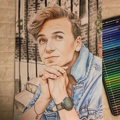 Hey guys! Ive finally finished my drawing of Joe Sugg and I am really happy with the result  Could you please do me a little favor and tag @joe_sugg under my drawing? It only takes a few seconds  Also feel completely free to repost the drawing if you want and let me know what you think  Materials: Faber Castell Polychromos / Prismacolors / Pan Pastels @fabercastellglobal @prismacolor @panpastel  Have a beautiful Sunday