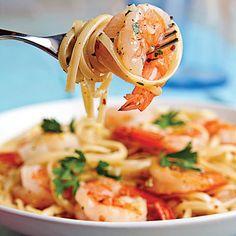 Shrimp Scampi Linguine - 27 Coastal Shrimp Recipes - Coastal Living