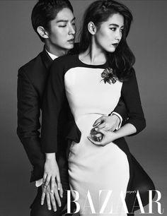 Lee Jun Ki Wraps Himself Around Nam Sang Mi For Harper's Bazaar Korea's July 2014 Issue Lee Jun Ki, Lee Joongi, Lee Min Ho, Korean Actresses, Korean Actors, Asian Actors, Wang So, Joon Gi, Kpop