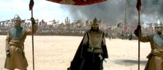 [Montgisard]. Balduíno IV passou perto o suficiente do acampamento de Saladino em Ramla para persuadir o inimigo a segui-lo, mas também muito perto das montanhas onde ele poderia escapar no caso de perder a batalha.