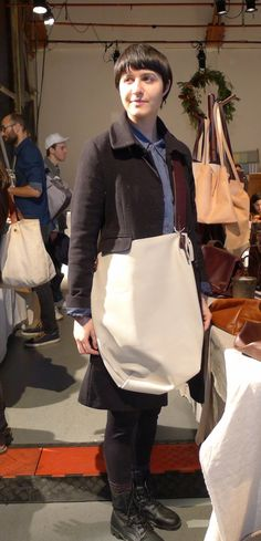 Specialty Dry Goods: Parker leather sack 2 strap b - plaster - $450 marked to $360