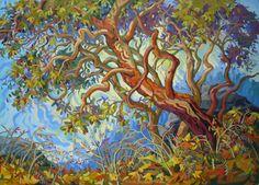Artwork by artist Greta Guzek, represented by the West End Gallery. Landscape Art, Landscape Paintings, Landscapes, Forest Painting, Painting Trees, Canadian Art, Cool Paintings, Tree Art, Beautiful Artwork