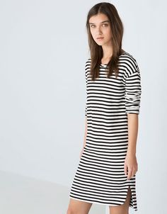 Bershka striped print terry dress - NEW COLLECTION - Bershka Romania