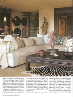 ARCHITECTURAL DIGEST – July 2010: Cher's Indian Fantasy