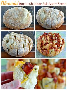 how to make bloomin bacon cheddar pull apart bread