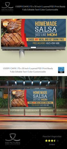 Restaurant Billboard Template Vol.3
