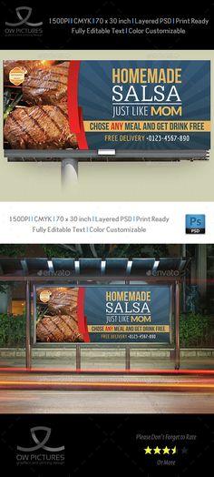 Restaurant Billboard Template Vol.3