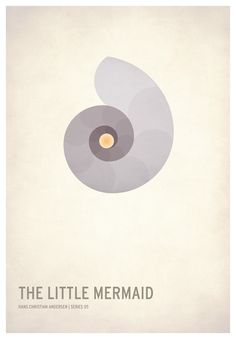 The Little Mermaid / 19 Minimalistic Posters Of Your Favorite Childhood Stories by Christian Jackson (via BuzzFeed)