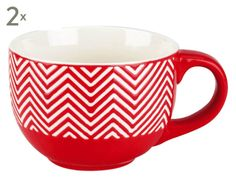 Jumbo-Kaffeebecher Zig Zag, 2 Stück, 750 ml