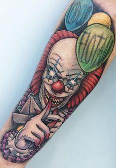 80 Tatuagens de Palhaço incríveis para você se inspirar - Fotos e Tatuagens Sketch Tattoo Design, Tattoo Sketches, Tattoo Drawings, Tattoo Designs, Dope Tattoos, Badass Tattoos, Elvis Tattoo, Hannya Tattoo, Clown Tattoo