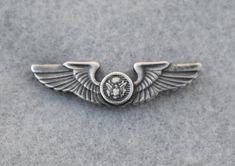 Sterling Silver WWII Air Crew Wings 1940s Vintage Pin | Etsy Vintage Pins, Vintage Brooches, Vintage Earrings, Etsy Vintage, Vintage Items, Vintage Jewelry, Silver Wings, Rhinestone Choker, Silver Brooch