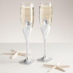 Starfish Champagne Flutes | Wedding Toasting Flutes