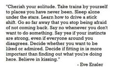 Eve Ensler Quote to Live By