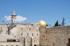 View of the Western Wall and the Dome of the Rock. #alightisrael