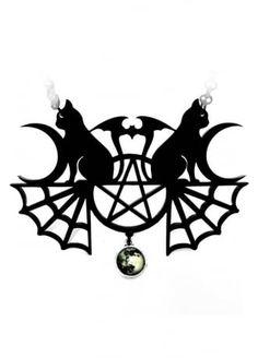 Curiology Ltd Black Magic Necklace | Attitude Clothing