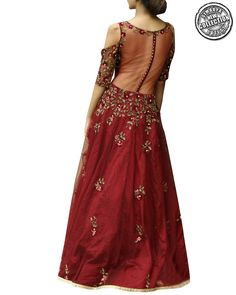 b196db37b0 Designer Parul Gandhi's Collection At Simaaya Fashions Online · Flaunt Your  Sensuality As You Adorn This Artistically Made Designer Cold Shoulder Gown  In ...