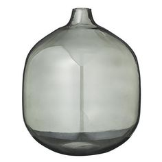 Image of Bloomingville rounded smoke glass vase