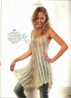 Grace y todo en Crochet: BELLO Y FRESCO MODELITO....BEAUTIFUL AND COOL outf...