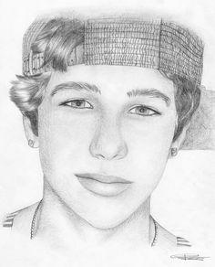 Austin mahone... i want to get this good at drawing.