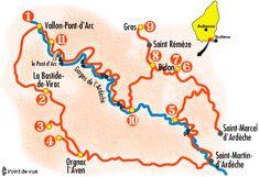 Circuit touristique en Ardèche