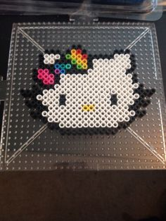 Hello Kitty perler beads.