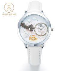 Miss Keke New 3d Clay Cute Mini World Big Ben London Paris Singapore Travel Kids Watches Ladies Women Leather Wristwatches 861