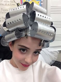 "Really cute ""beauty school dropout"" ""grease"" head peice. Modeled by me"