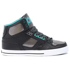 Osiris NYC 83 Vulc (Black/Gunmetal/Teal) Skate Shoes