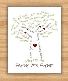 Family Tree of Hearts Personalized Wall Canvas | Personalized ...