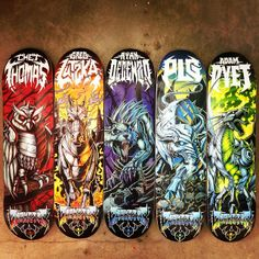 Darkstar Skateboards Metal Series Spring 14. Chet Thomas Metal 8.1 x 31.8 x 14.25 wheelbase; Greg Lutzka Metal 8.0 x 31.6 x 14.0 wheelbase; Ryan Decenzo Metal 8.25 x 31.7 x 14.25 wheelbase; PLG Metal 8.38 x 31.8 x 14.25 wheelbase; Adam Dyet 7.75 x 31.2 x 13.88 wheelbase. #Resin7