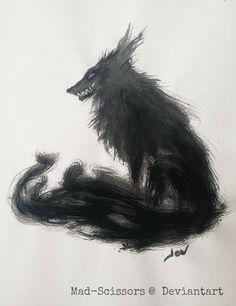 Grim Wolf - Inktober 01 by Mad-Scissors