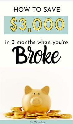 How to save money in 3 months when you're broke? Read this post for more money hacks to help you … Money Saving Challenge, Money Saving Tips, Money Hacks, Money Tips, Save Money On Groceries, Ways To Save Money, Budgeting Finances, Budgeting Tips, Savings Plan