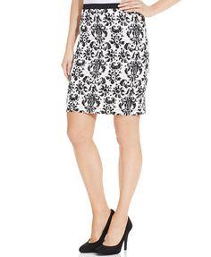 Karen Kane Printed Pencil Skirt