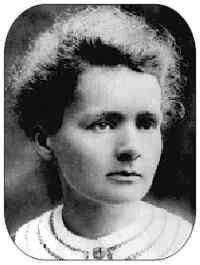 Marie Curie, fisica y quimica. Primera mujer en ser profesora en la Universidas de Paris.