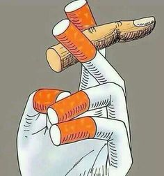 The cigarette controls YOU ... right up til it chokes the life out of you, literally.
