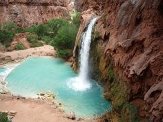 This secluded aqua blue waterfall near the Grand Canyon is the perfect swimming hole, and the Havasupai tribe's best-kept secret.