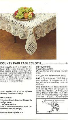Vintage Crochet Patterns, Quick Crochet for Your Home, Crochet Curtains, Crochet Tablecloth, Thread Crochet, 1982