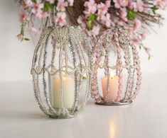 I like this one too much, making simple cages using wires. 56 Inspirational Craft Ideas For Easter