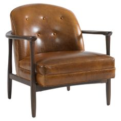 Way too expensive, but gorgeous chair.    Olsen Leather Chair   DwellStudio
