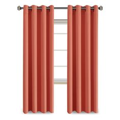 FlamingoP Blackout Grommet Curtain Panel -Coral - Sold by Panel