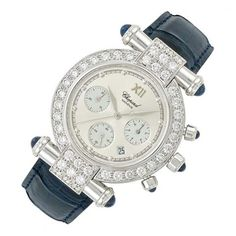 Lady's White Gold, Diamond and Cabochon Sapphire 'Imperial' Chronograph Wristwatch, Chopard for Sale at Auction on Mon, 04/15/2013 - 07:00 - Important Jewelry | Doyle Auction House