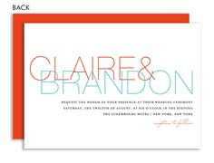 Simply Chic Wedding Coral & Aqua Wedding Invitation by Noteworthy Collections at InvitationBox.com