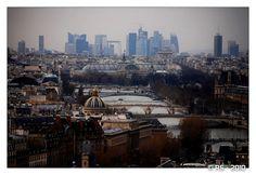 La Défense vue de Notre-Dame Paris Skyline, New York Skyline, Dame, Travel, Viajes, Destinations, Traveling, Trips